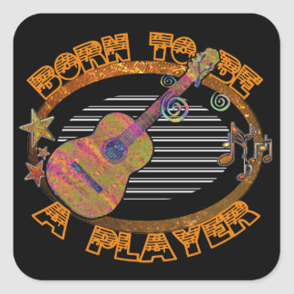 Player Acoustic Guitar ID281 Square Sticker