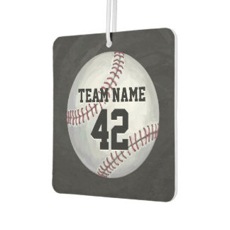 Player and Number Baseball Air Freshener