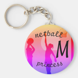 Player Design Personalised Netball Keychain