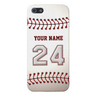 Player Number 24 - Cool Baseball Stitches Case For The iPhone 5