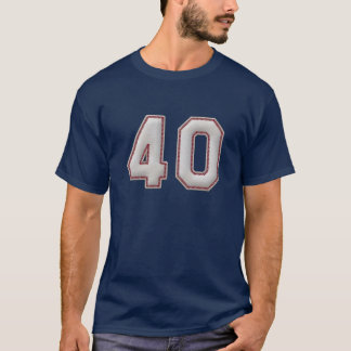 Player Number 40 - Cool Baseball Stitches T-Shirt