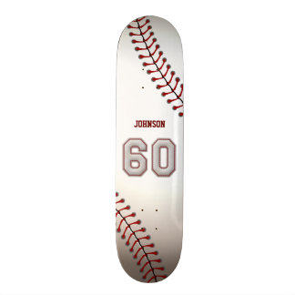 Player Number 60 - Cool Baseball Stitches Skate Boards