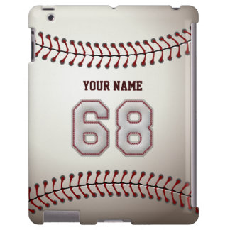Player Number 68 - Cool Baseball Stitches Look