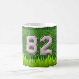 Player Number 82 - Cool Baseball Stitches Classic White Coffee Mug