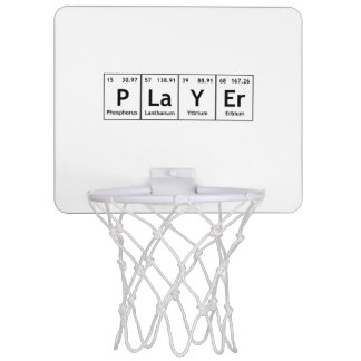 PLaYEr Periodic Table Elements Word Chemistry Mini Basketball Hoop