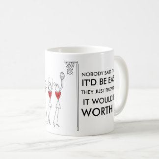 Player Positions and Motivational Netball Quote Coffee Mug