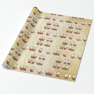 Player Positions Design Netball Theme Wrapping Paper
