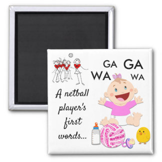 Player Positions Themed Funny Netball Quote Magnet