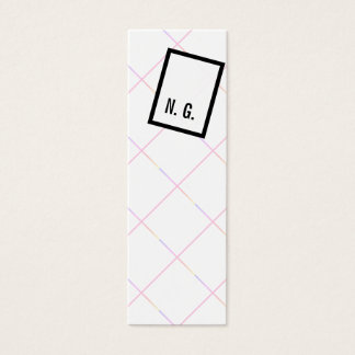 Playful and unusual mini business card