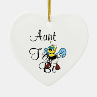Playful Aunt To Bee Ceramic Ornament