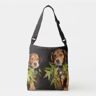 Playful Beagle Brothers Puppies Crossbody Bag