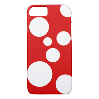 Playful Bold White Dots on Striking talk Color iPhone 7 Case