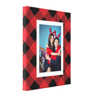 Playful Buffalo Plaid Photo Canvas Print