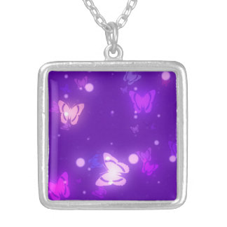 Playful Butterflies Illustrated Necklace
