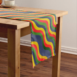 PLAYFUL COLORFUL WAVES Custom Table Runner