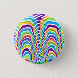 Playful Colors 1 Inch Round Button