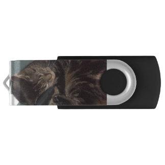 Playful Dave Silver 16GB USB Drive Swivel USB 3.0 Flash Drive
