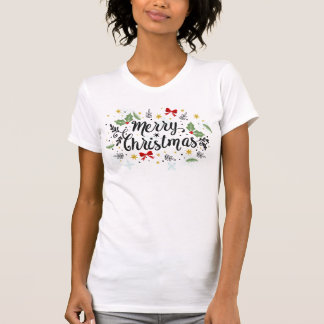 Playful Ditsy Merry Christmas Design | Shirt