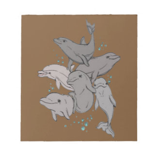 Playful Dolphins Notepad