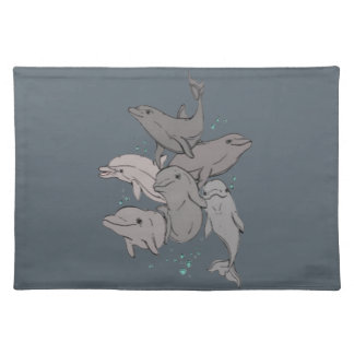 Playful Dolphins Placemat