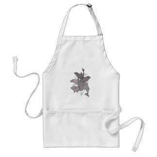 Playful Dolphins Standard Apron