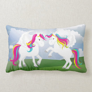 playful Fantasy unicorns girls pillow