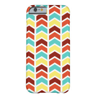 Playful Geometric Chevron Pattern - Retro Colors Barely There iPhone 6 Case