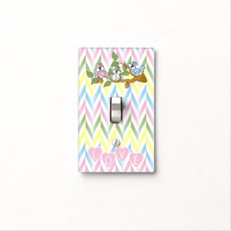 Playful Girl Squirrel Nursery Theme Light Switch Cover