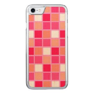 Playful Harlequin Lipstick Color Tiles Carved iPhone 8/7 Case