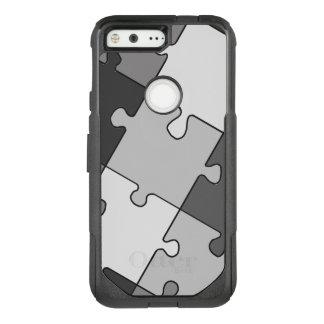 Playful Jigsaw Puzzle Gray OtterBox Commuter Google Pixel Case