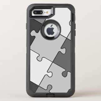 Playful Jigsaw Puzzle Gray OtterBox Defender iPhone 8 Plus/7 Plus Case