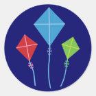 Playful Kites Classic Round Sticker