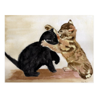 Playful Kittens Postcard