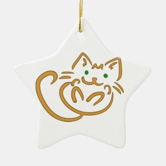 Playful Kitty Ceramic Ornament
