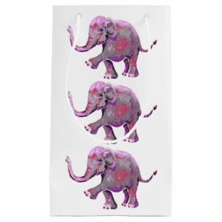 Playful Little Painted Elephant Baby Small Gift Bag