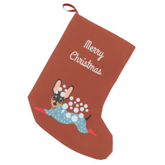 Playful Mini Pin Merry Christmas Stocking