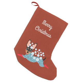 Playful Mini Pin Merry Christmas Stocking Small Christmas Stocking