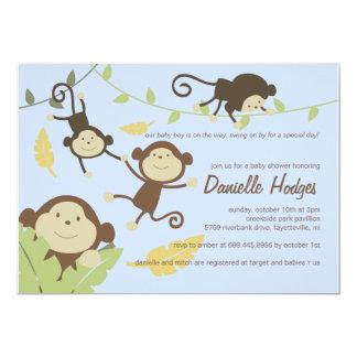 Playful Monkeys Invitation