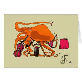 playful octopus card
