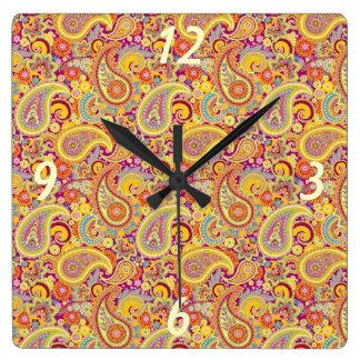 Playful Paisley Clock