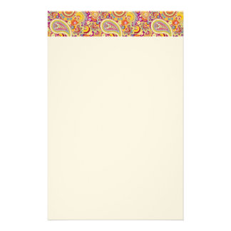 Playful Paisley Custom Stationery