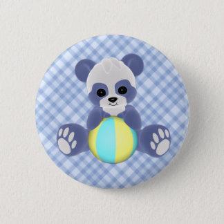 Playful Panda Baby Boy Button