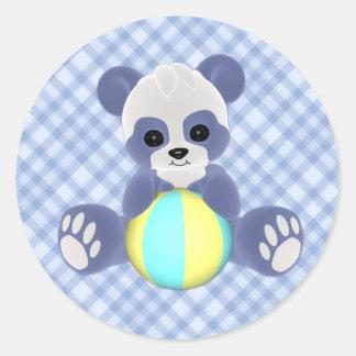 Playful Panda Baby Boy Sticker