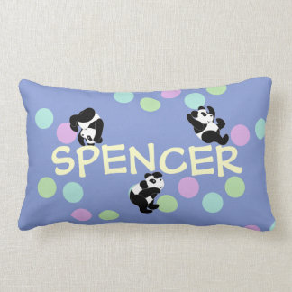 Playful Pandas Name Lumbar Pillow