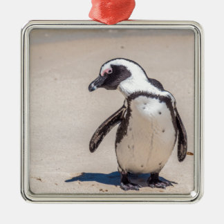 Playful Penguin Metal Ornament
