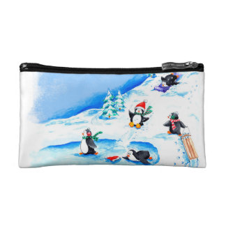 Playful Penguins Cosmetic Bag