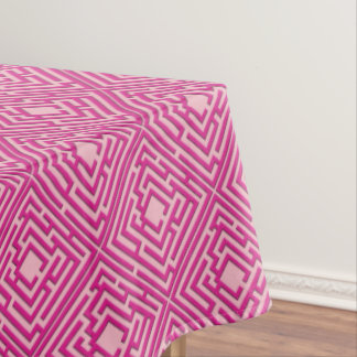 Playful Pink Labyrinth on any Color Tablecloth