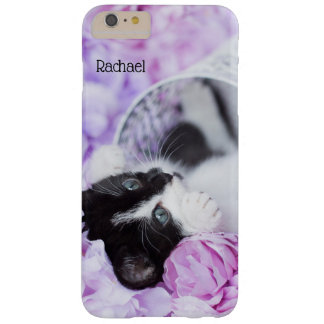 "Playful ""Pippa"" Purple Floral Barely There iPhone 6 Plus Case"