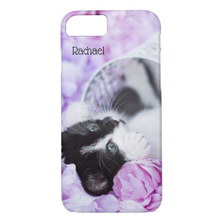 """Playful """"Pippa"""" Purple Floral iPhone 8/7 Case"""