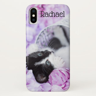 "Playful ""Pippa"" Purple Floral iPhone X Case"